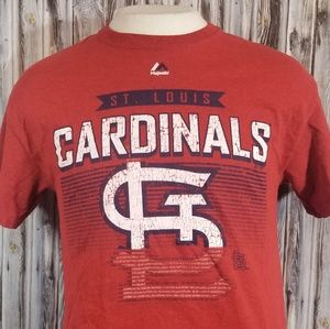 St. Louis Cardinals Majestic shirt mens medium red